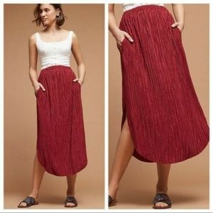 New Anthropologie Odelle Textured Skirt Sz XS